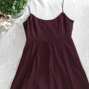 Adorable Maroon High Low Dress